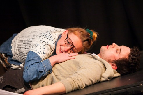 Natalie Ann Jamieson and Chris Foley in Write Stuff