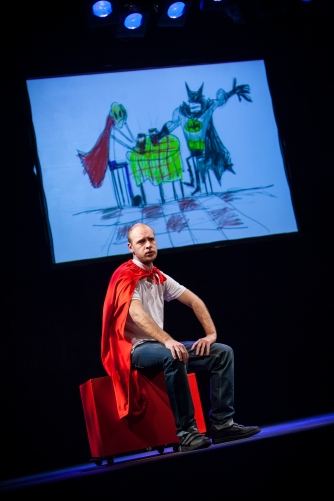 Mark Weinman in Captain Amazing by Alistair McDowall, Live Theatre