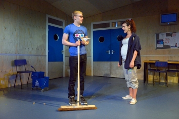 Riley Jones and Eva Quinn in Wet House by Paddy Campbell