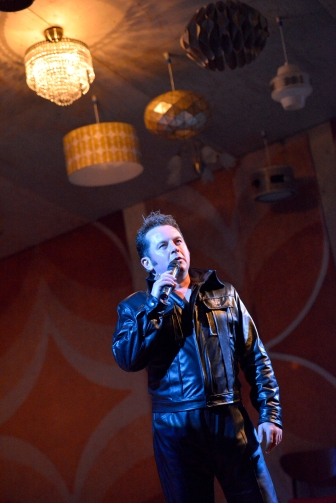 Joe Caffrey as Elvis in Cooking with Elvis by Lee Hall. Photo Keith Pattison