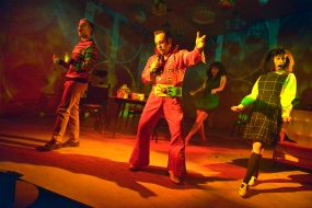 Joe Caffrey in Cooking with Elvis at Live Theatre. Photo by Keith Pattison