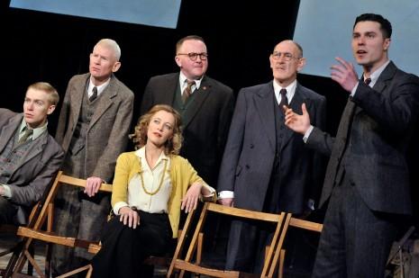 Joe Caffrey in The Pitmen Painters (back, centre)