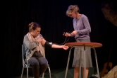 Karen Traynor and Zoe Lambert in Rendezvous (Anti-Gravity by Holly Reed Macrae) at Live Theatre